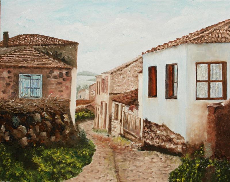 cun yağlı boya tablo sokaklar